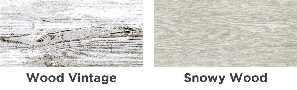 Snowy-Vintage Wood
