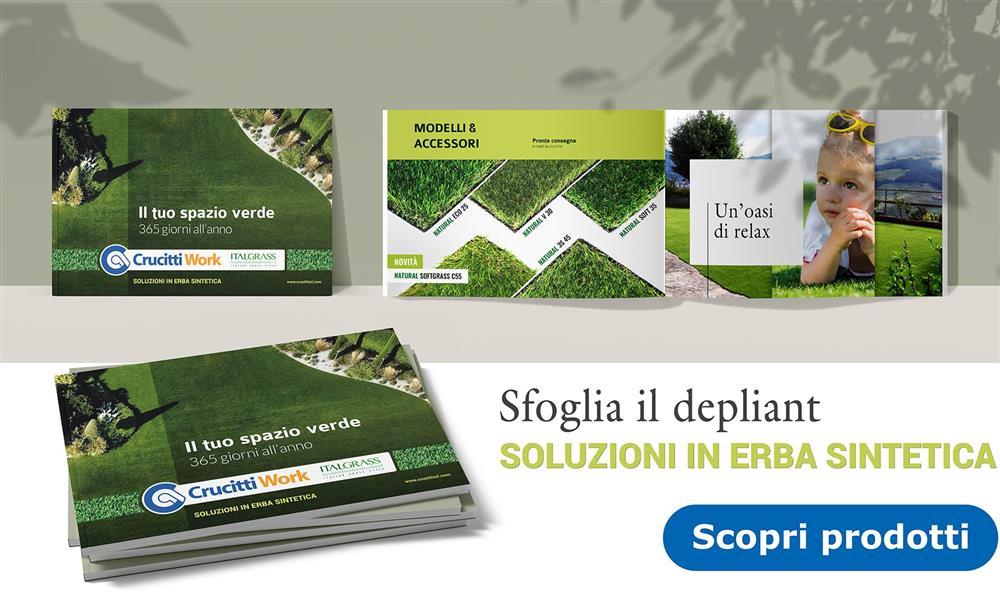 Scopri le soluzioni in erba sintetica - Scarica Depliant